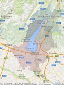Lago di Garda -mappa zone