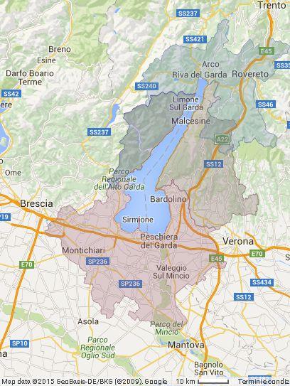 Cartina Topografica Lago Di Garda.Lago Di Garda Mappa Zone Garda Tourism Garda Tourism